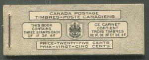 CANADA COMPLETE BOOKLET BK38c BILINGUAL
