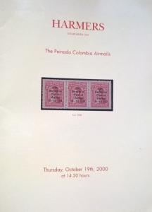 Auction catalogue PEINADO COLOMBIA AIRMAILS CCNA SCADTA Stamps Postal History