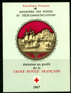 France B409a 1967 Red Cross booklet complete MNH mint      (Inv 001401.)