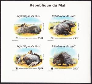 Mali WWF Crested Porcupine De-Luxe Combo Imperf