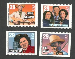2775-8  Country Singers Booklet Set Of 4 Mint/nh FREE SHIPPING (A-311)