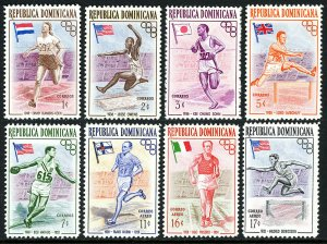 Dominican Republic 474-478,C97-C99, MNH. Olympics,Melbourne.Winners & Flags,1957