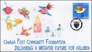 CA16-026, 2016, Canada FDC, Canada Post Community Foundation