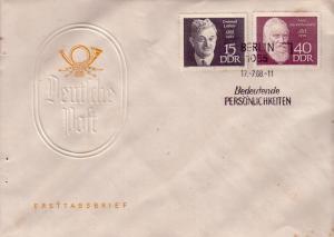 DDR FDC Famous German's 1026 & 1029  L98