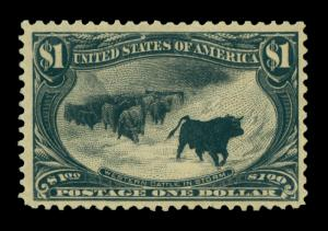US 1898  Cattle in Storm  $1  black  Scott # 292 mint  MNH