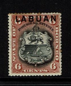 Labuan SG# 93b, Mint Hinged, Hinge Remnant, minor toning - S1399