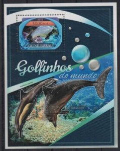 Guinea-Bissau MNH S/S Dolphins Marine Life 2016
