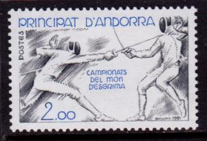 French Andorra 290 MNH - World Fencing Championship (1981)