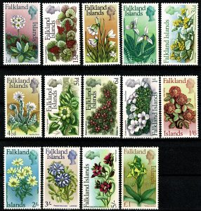 FLAKLANDS ISLANDS 1968 QE II FULL SET1/2d-£1 MH Wmk. w12 VGC