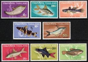 1968 Thailand Siam Fish complete set (8) MNH Sc# 501 / 508 CV $89.35