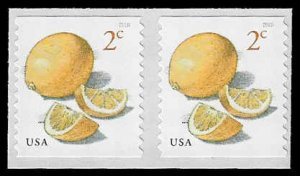 PCBstamps     US #5256 Coil Pair 4c(2x2c)Meyer Lemon, MNH, (3)