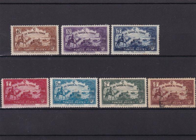 tunisia de gabes au tchad  1928 mm & used stamps ref r15138