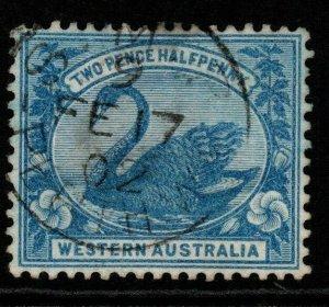 WESTERN AUSTRALIA SG114 1901 2½d BLUE USED