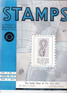 Stamps Weekly Magazine of Philately February 3, 1934 Stamp Collecting Magazine
