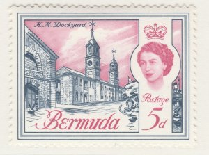 British Colony Bermuda 1962 5d MH* Stamp Historical Buildings A22P18F8920