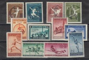 Yugoslavia 1936/57/59 Olympics/Gymnastics/Motor Racing MVLH JK2450