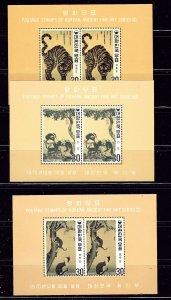 South Korea 718a-20a MNH Perfed Souvenir sheets