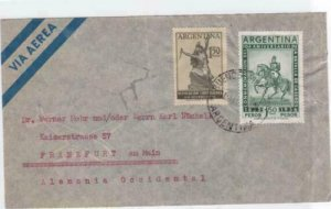 argentina 1957 airmail  stamps  cover ref r14704