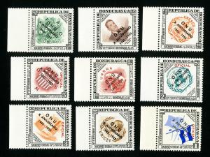 Honduras Stamps # CO60-8 XF OG NH Catalog Value $22.50