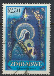 Zimbabwe SG 887  SC# 719  Used  Christmas 1994   see detail and scan