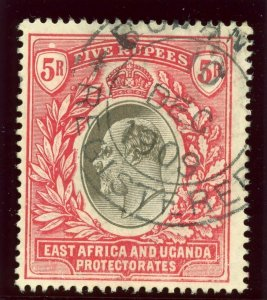 K.U.T. 1907 KEVII 5r grey & red very fine used. SG 30. Sc 29.