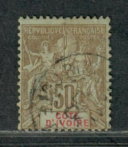 Ivory Coast Sc#15 Used/F-VF, Cv. $25