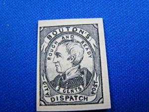 U.S. PRIVATE/LOCAL POST STAMPS - BOUTON'S DISPATCH - SCOTT #18L1