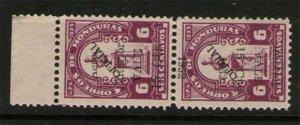 Honduras 1932 Sc C74 pr, Error One stamp Opt Inverted