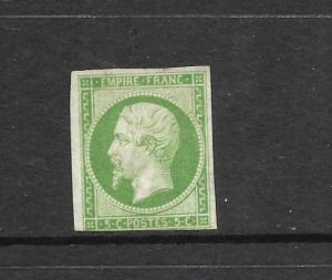 FRANCE  1853  5c  NAPOLEAN  IMPERF  MNG   SG 45
