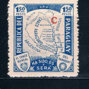 Paraguay L33 MNH Map Gran Chaco (GI0189)+