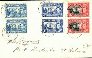 ST HELENA KGVI Cover 2d 4d 6d Pairs 1952{samwells-covers}PB252