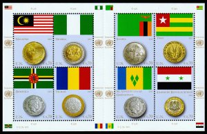 United Nations - Vienna Scott 539 (2013) Flags & Coins, Mint NH VF C