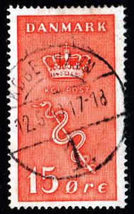 DENMARK Stamp 1929 Charity for the Danish Cancer Committee 15 + 5 Øre RED $15