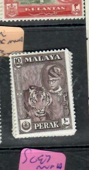 MALAYA  PERAK  (P1606B)  SG 155   10C    MNH