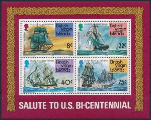 Virgin Islands stamp Ship block MNH 1976 Mi 7 Ships WS224220