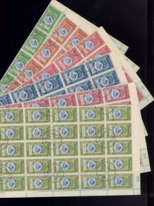 YEMEN Sc# 24-29 Used Set of SINGLES ( NO Full Sheets!! Read Pic Details)  FOS180