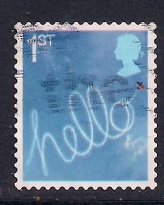 GB 2005 QE2 1st Smilers Hello Stamp used SG 2568 ( A850 )