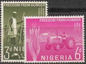 Nigeria Scott #141-42 MLH Complete Set