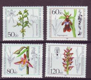 J24983 JLstamps 1984 germany berlin set mnh #9nb216-9 flowers