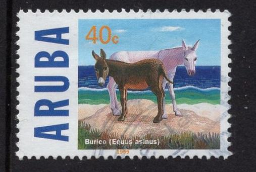 Aruba   #167  used  1999   endangered animals  40c