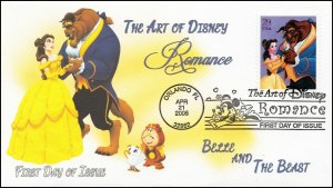 AO-4027-2, 2006, The Art of Disney, Add-on Cover, First Day Cover, Pictorial,
