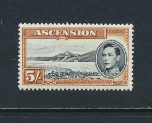 ASCENSION 1944, 5sh P13. VF MLH SG#46a CAT£40 $52 (SEE BELOW)