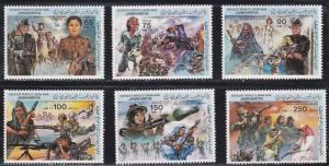 Libya # 1130-1135, Women in the Armed Forces, NH, 1/2 Cat