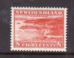 Newfoundland-Sc #209-unused,og, NH 8c Paper Mill-id5-1932-