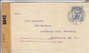 1943, Rueda, Argentina to Rita Hayworth, Censored, See Remark (C3523)