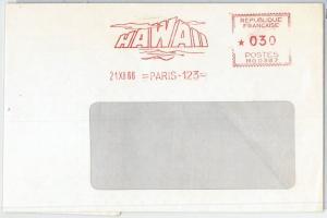 64751 - FRANCE - POSTAL HISTORY - Red MECHANICAL POSTMARK: CINEMA Hawaï 1966