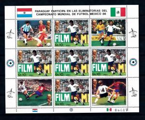 [60856] Paraguay 1985 World Cup Soccer Football Mexico MNH