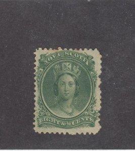 NOVA SCOTIA (MK4552)  # 11  FVF-MH  8 1/2cts  1860-63 QN VICTORIA / GRN CAT $15