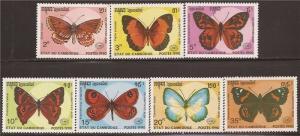 Cambodia - 1990 Butterflies - 7 Stamp Set - 3M-010 - Scott #1064-70