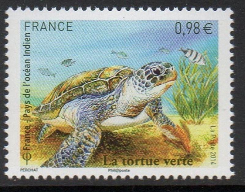 France 2014 Turtle - Joint Issue with FSAT TAAF VF MNH